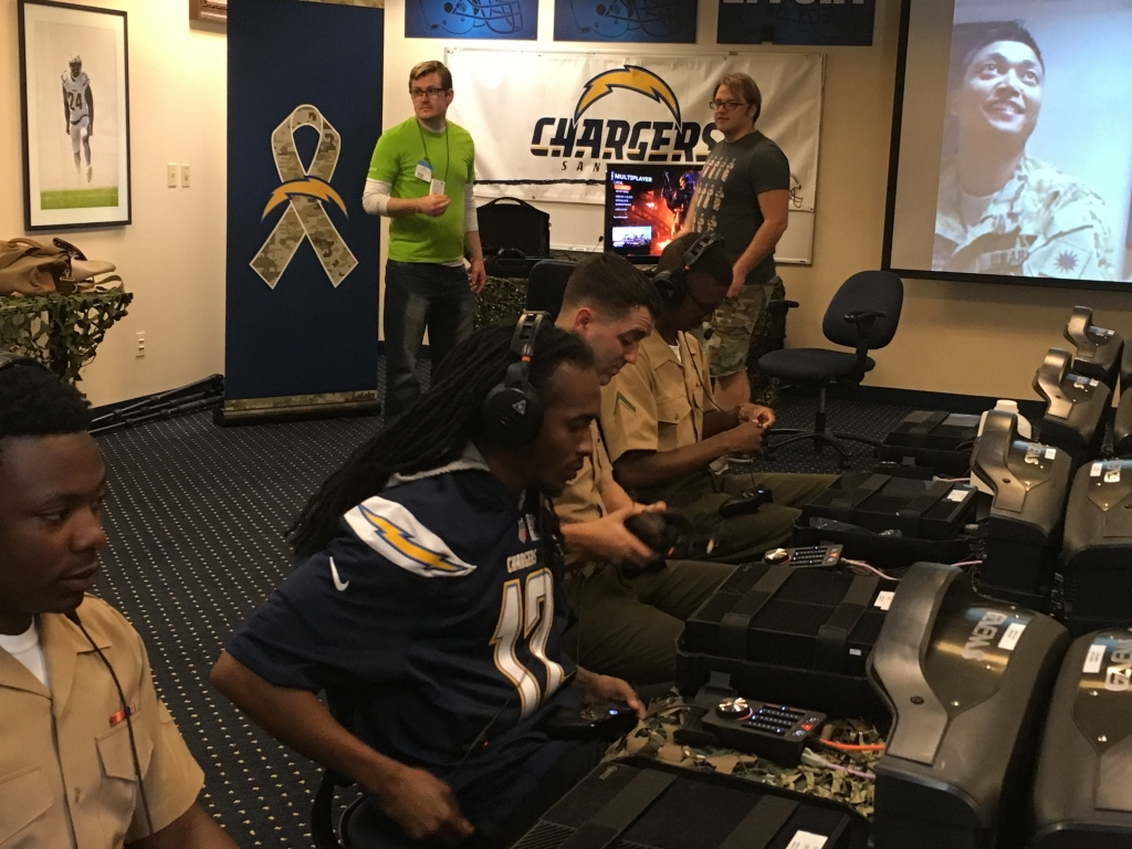 gaming headset san diego chargers marines