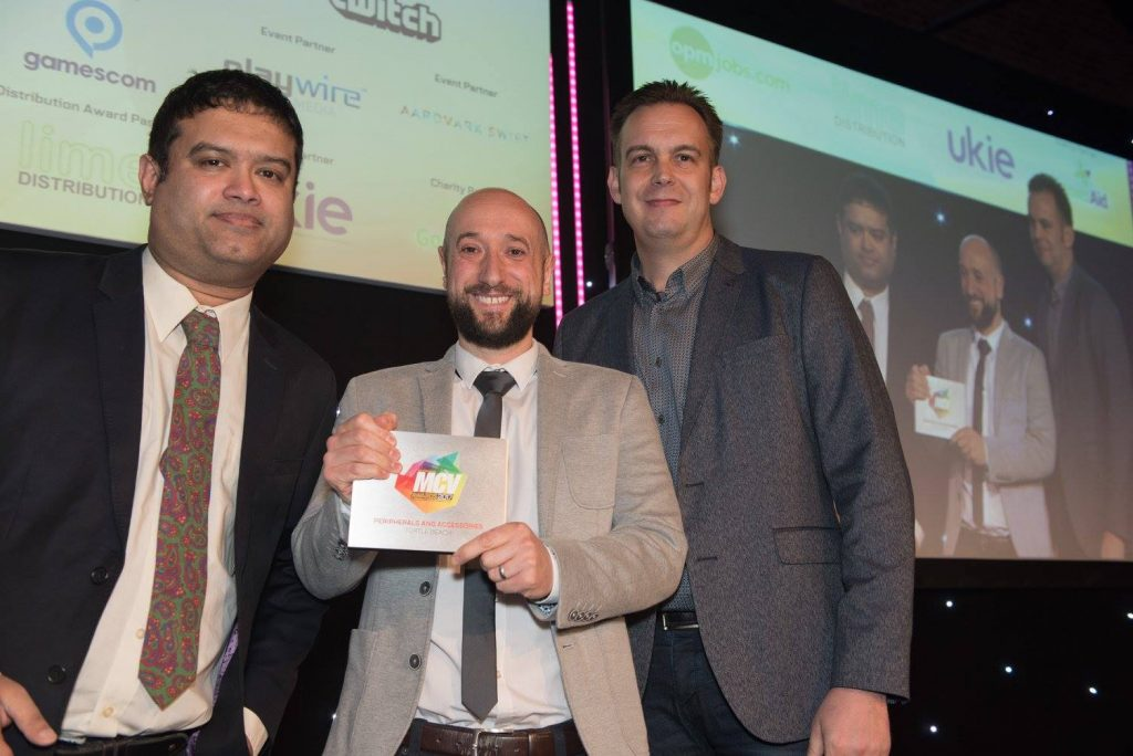 Turtle Beach UK at the MCV Awards ceremony, March 2017.