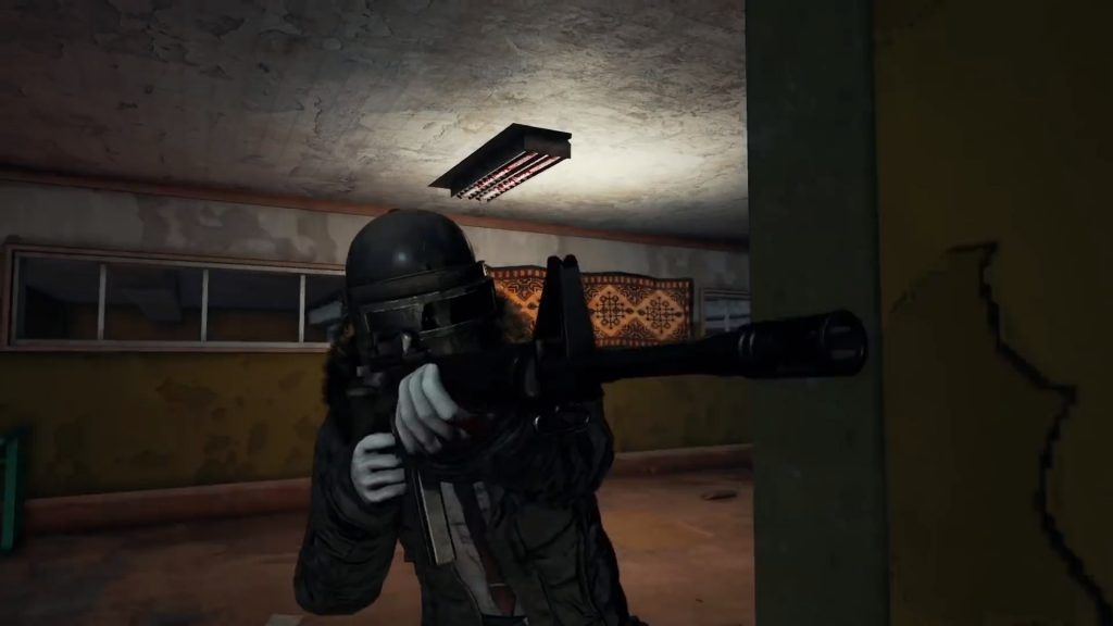 Hearing footsteps upstairs in a building will alert you to an enemy's presence.