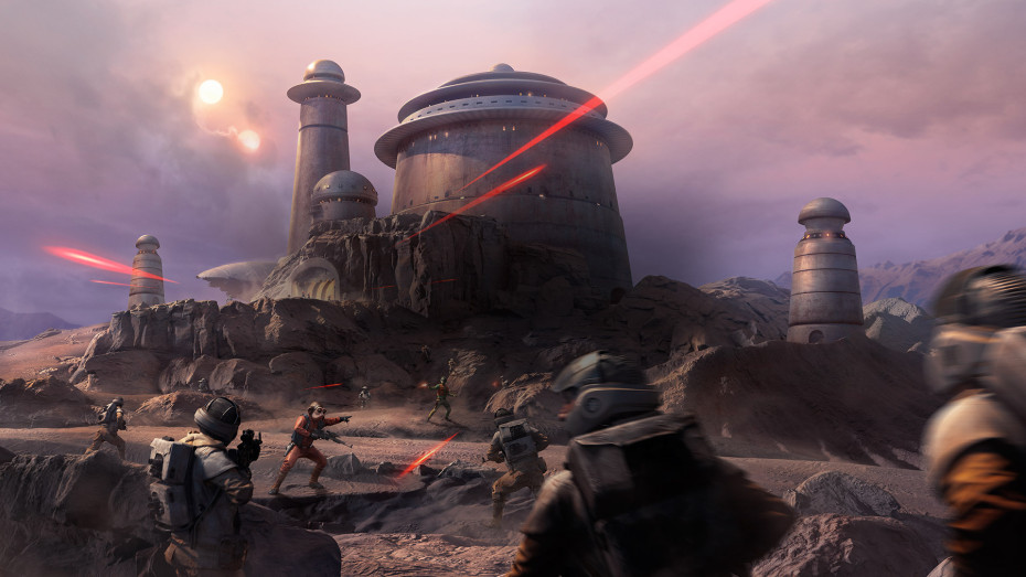 Star Wars Battlefront Outer Rim Map, Jabba the Hutt's palace.