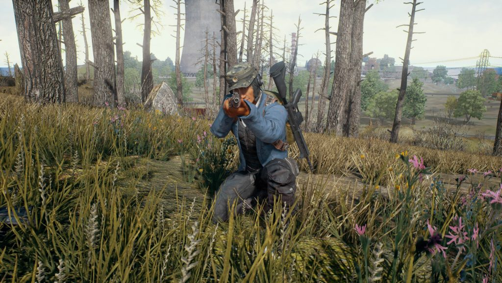 A sniper waits patiently for a shot in Playerunknown's Battlegrounds.