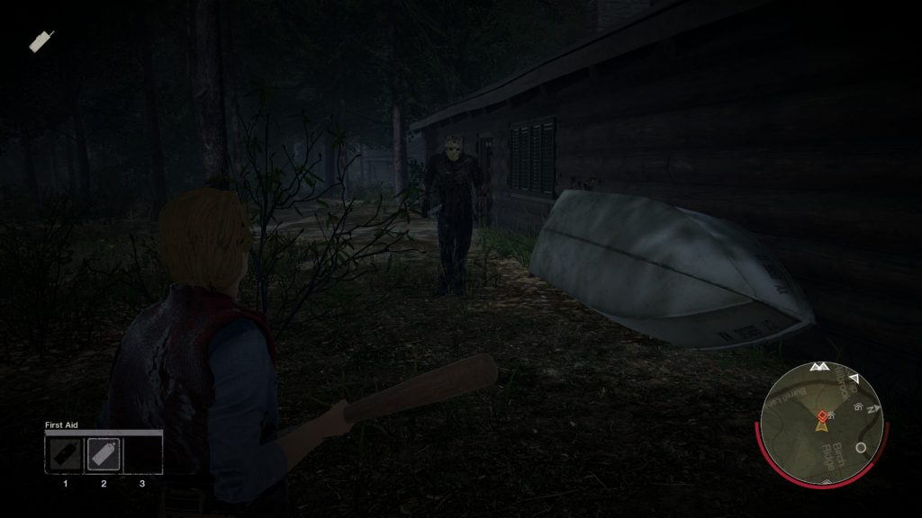 Finding a weapon can help if you come face-to-face with Jason.