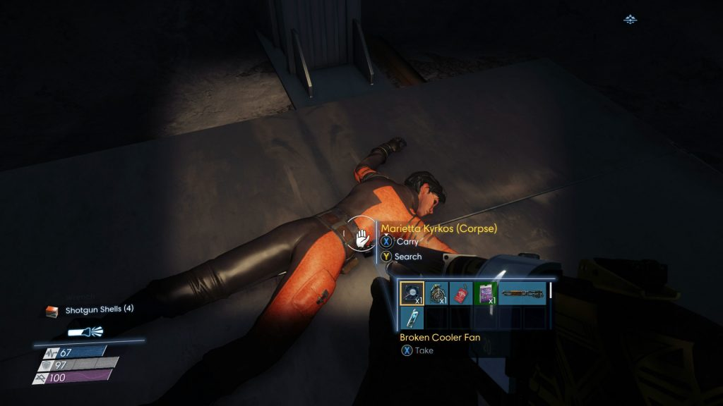 Search bodies in Prey for keycards and Neuromods