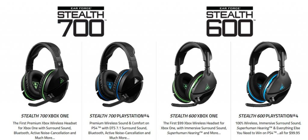 The new STEALTH 600 and STEALTH 700 wireless gaming headsets from Turtle Beach.