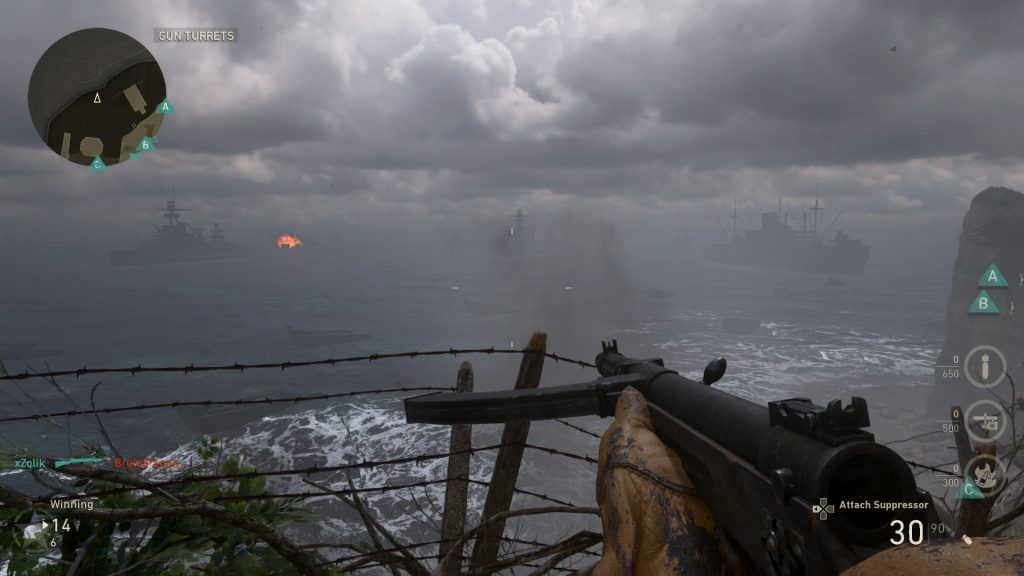 The visuals and audio work together to create a realistic World War 2 experience.