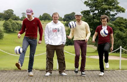Wayne Rooney with The Hoosiers