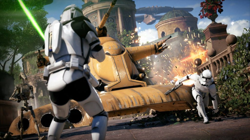 The Galactic Assault features 20-on-20 combat.
