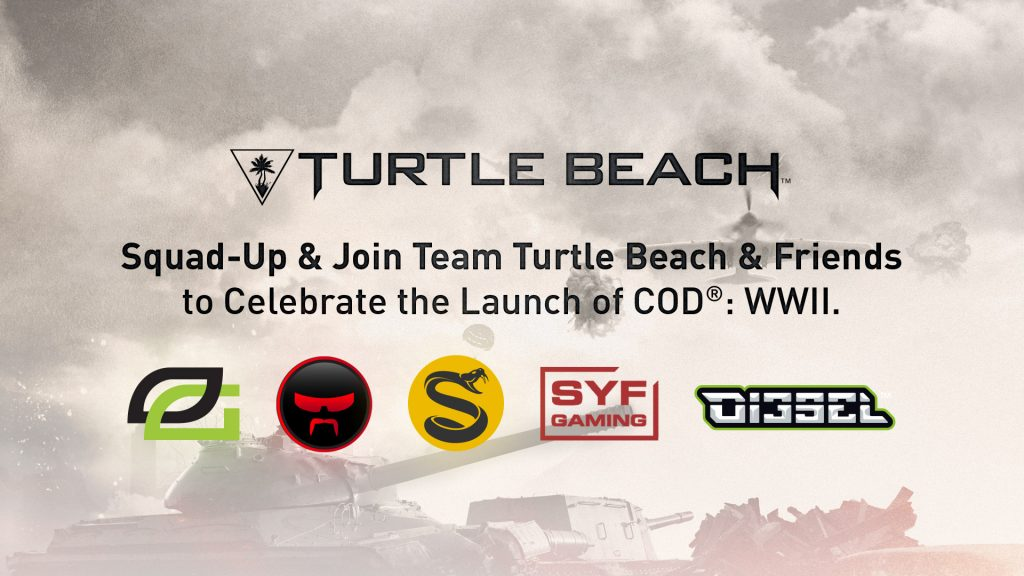 Join Team Turtle Beach and friends as they race to prestige in Call of Duty:WWII, while rocking the best gaming headsets around!