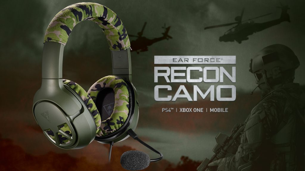The Recon Camo gaming headset for PS4 and Xbox One. Available now from Turtle Beach.