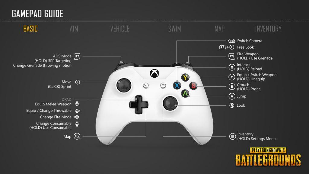 PUBG Xbox One basic controls