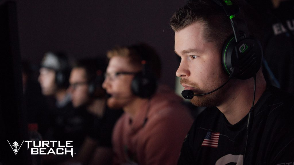 OpTic Gaming compete at CWL NOLA 2018 using Turtle Beach Elite Pro OpTic Limited Edition headsets.