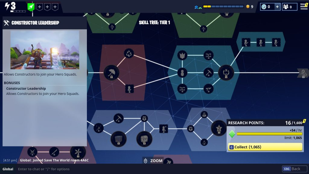 Fortnite has a deep and rich skill tree system.