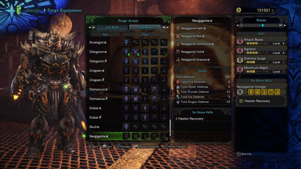High Rank armor offers various benefits, and comes in two styles.
