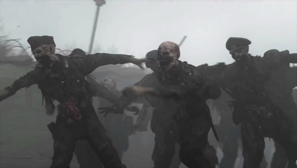 A horde of zombies is scary, but stay calm and shoot carefully.