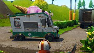 An ice cream truck in Fortnite Battle Royale.
