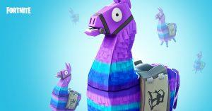 Llama loot boxes in Fortnite Battle Royale.
