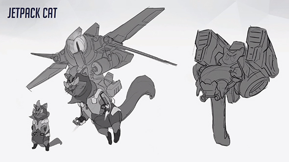 Jetpack Cat in Overwatch design concept
