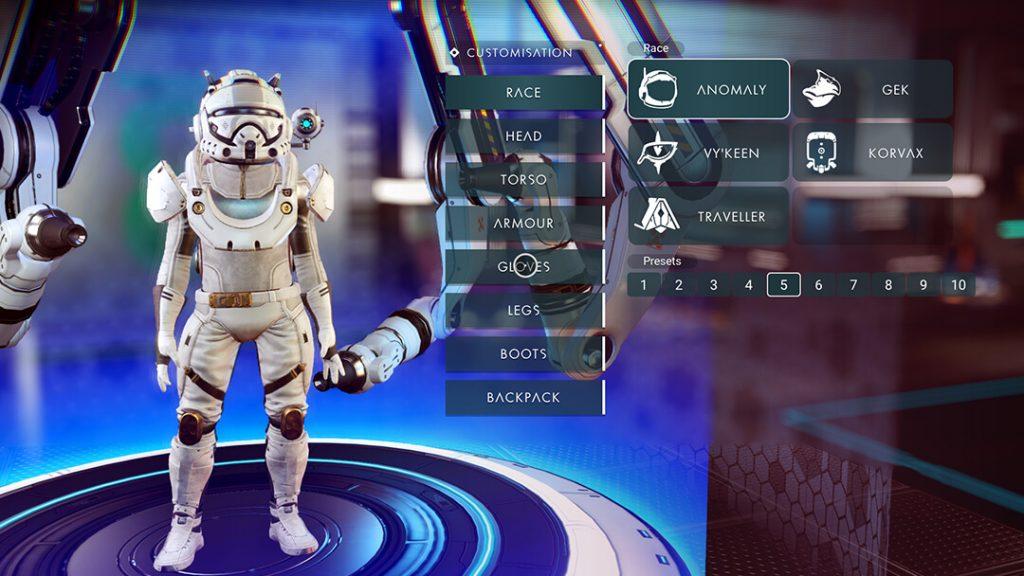 No Man's Sky NEXT Character Customization