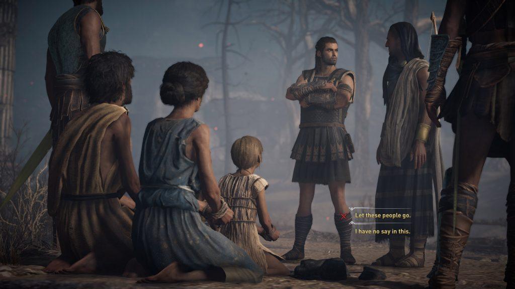 Dialogue choices Odyssey