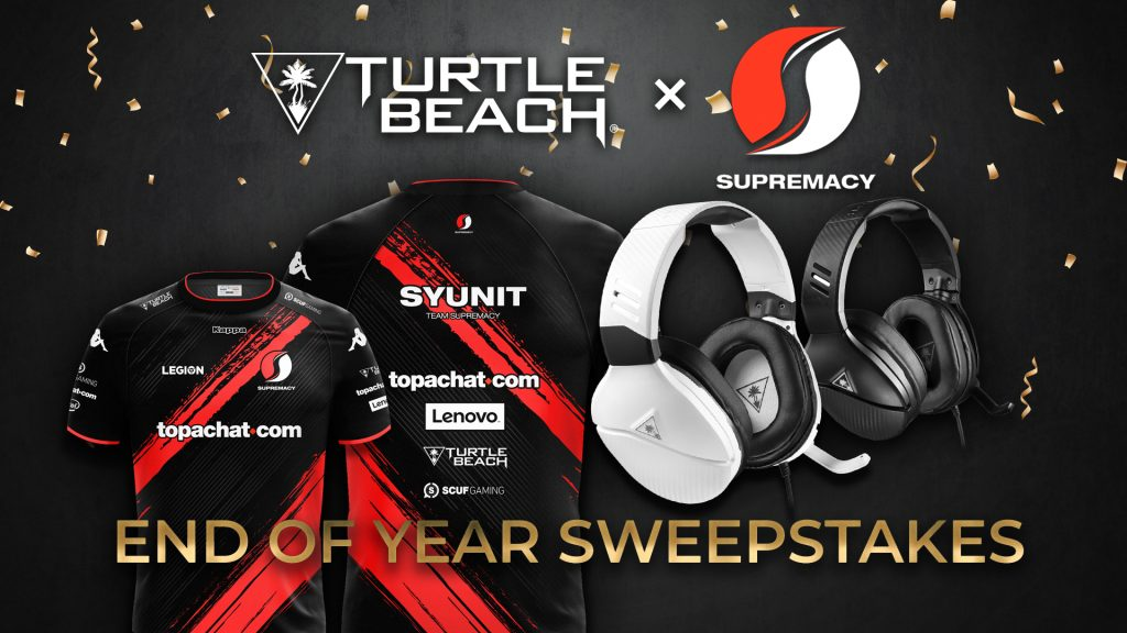 Turtle Beach x Supremacy End Of Year Sweepstakes Giveaway