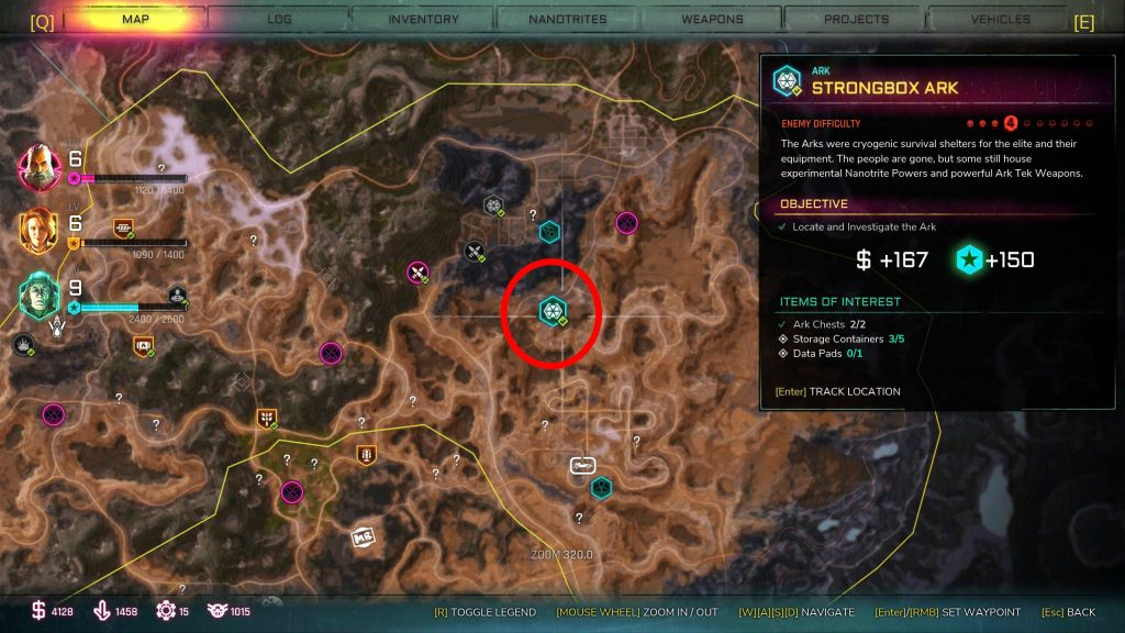 Where to find all Ark locations in Rage 2