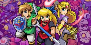 Link, Zelda, and Cadence are the main characters in Cadence of Hyrule.