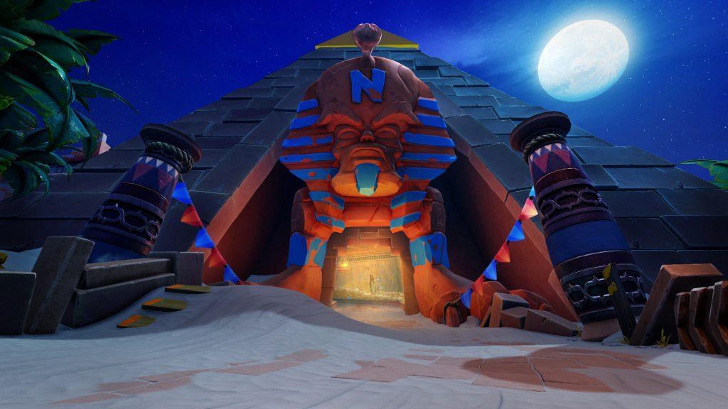 Pyramid track entrance in Crash Team Racing Nitro-Fueled