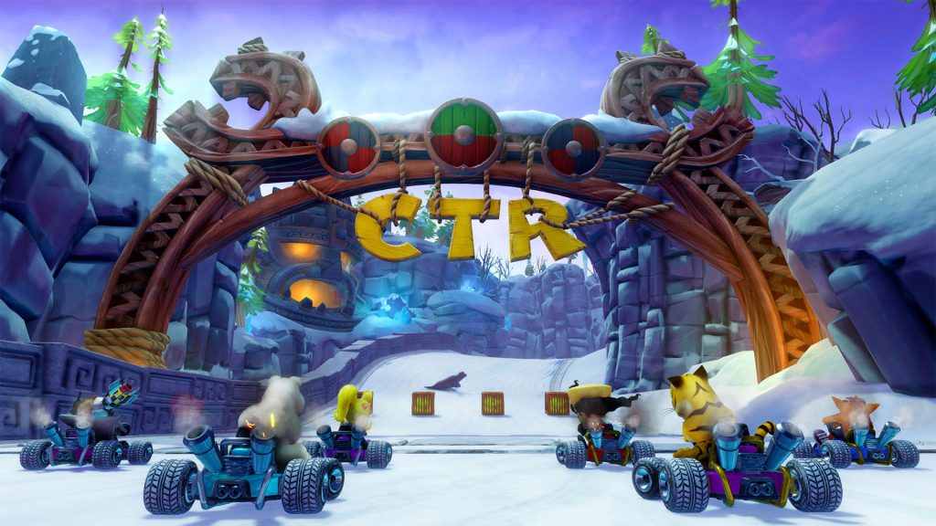 Racers at the starting line in Crash Team Racing Nitro-Fueled