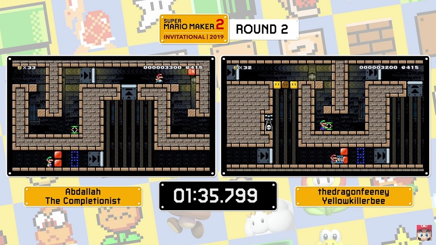 Round two of the Super Mario Maker 2 Invitational Duos competition
