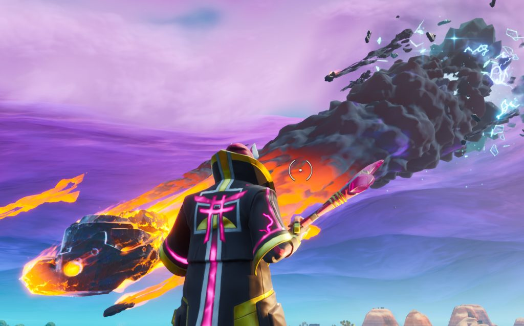 Drift watches as a familiar meteor hangs in the air as a reminder of Season 4.