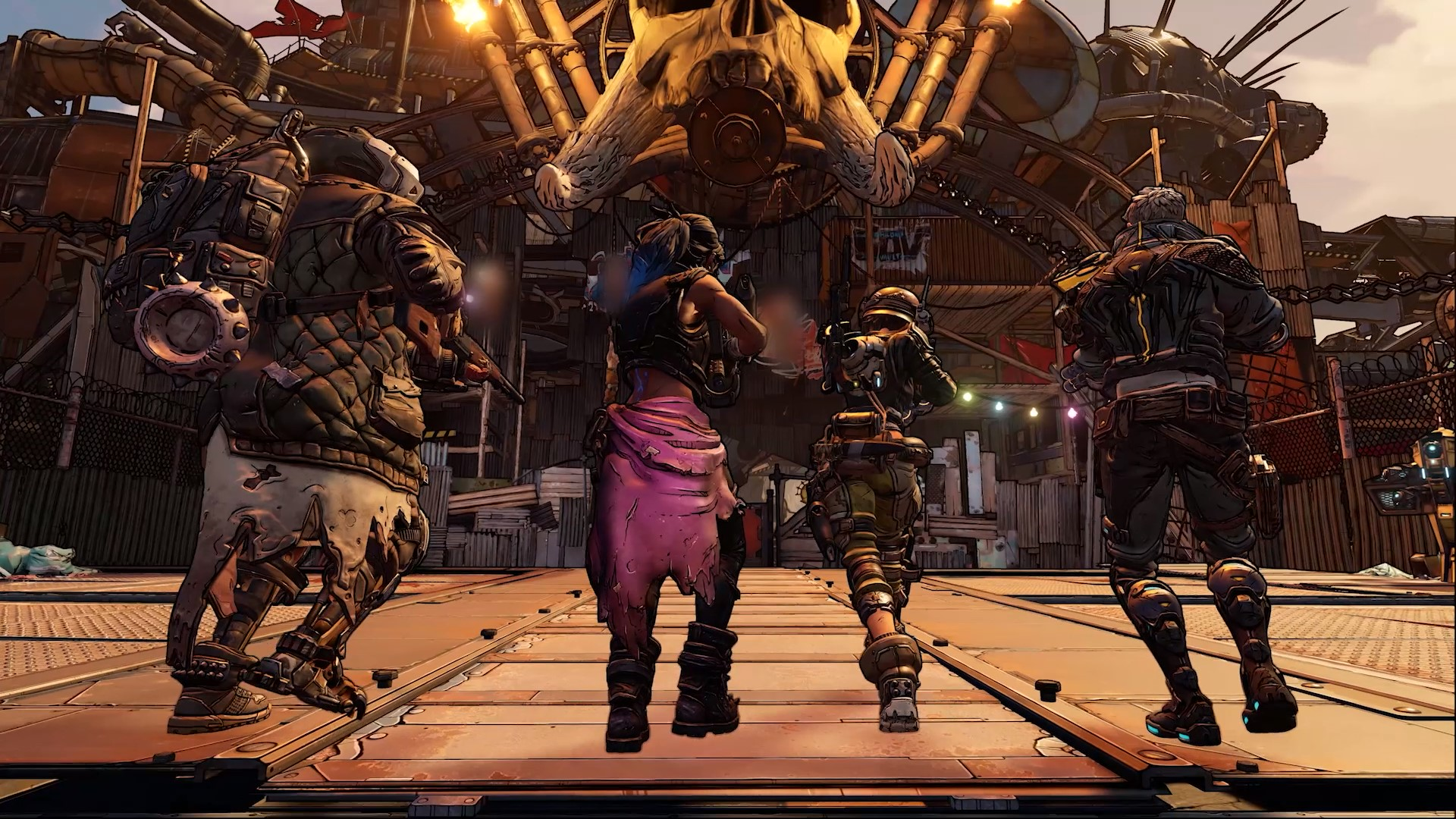All four playable characters of Borderlands 3