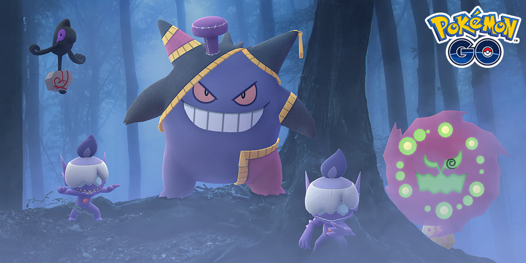 Cute Litwick hats, a Yamask, a Spiritomb, and one crazy looking Gengar.