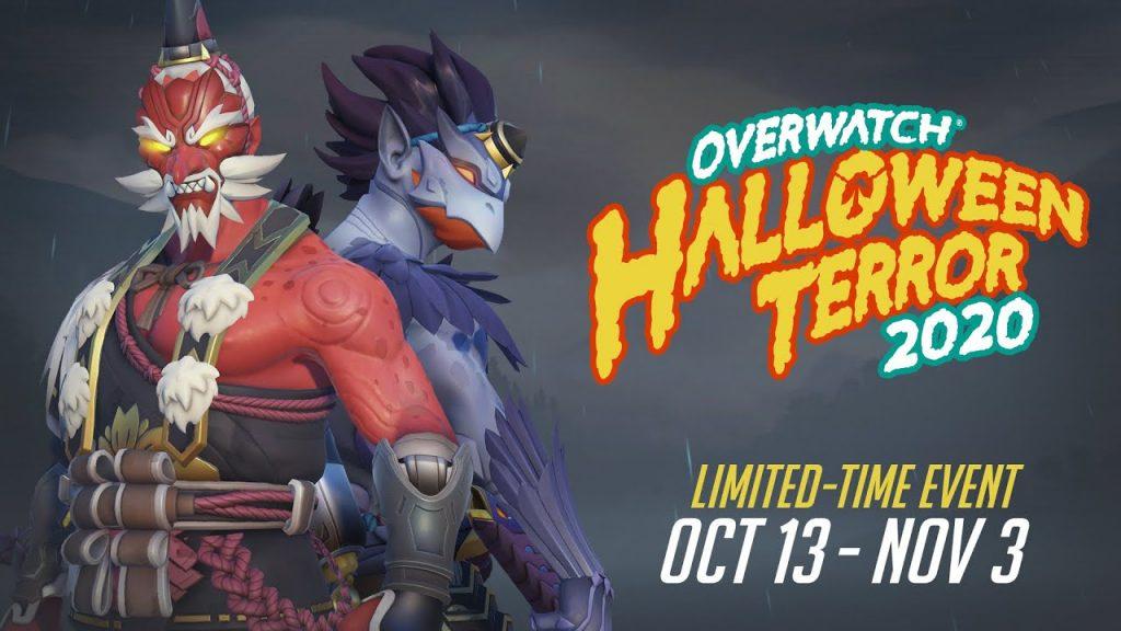2 new Halloween themed Overwatch skins.