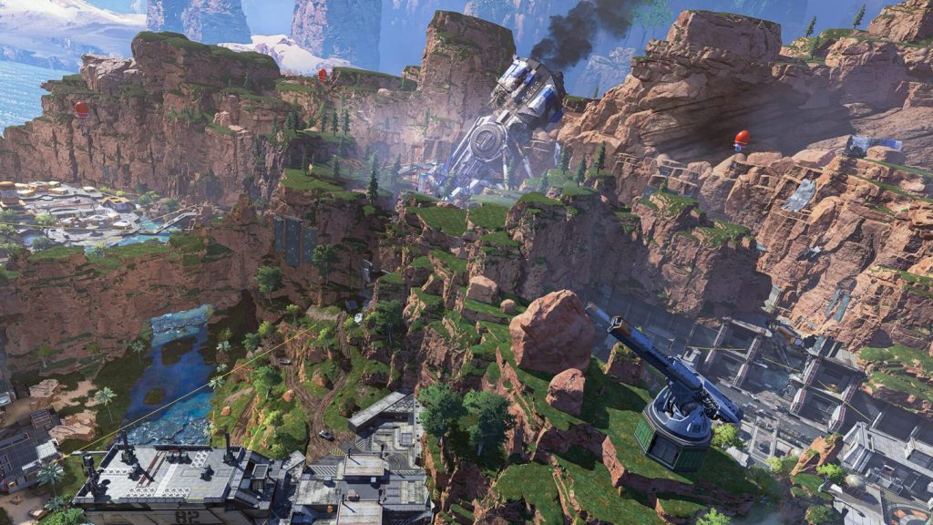 Devil's Canyon, the map of Apex Legends.