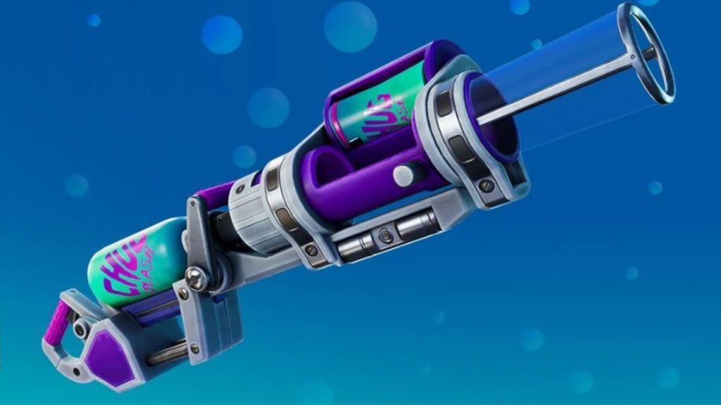 The all-new chug cannon healing weapon.