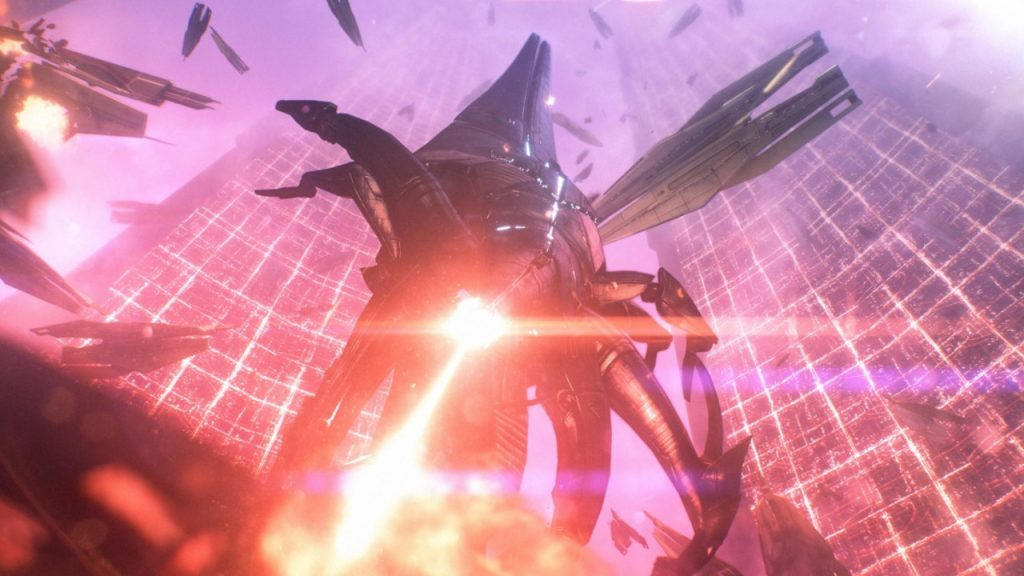 Reaper ship mid-destruction