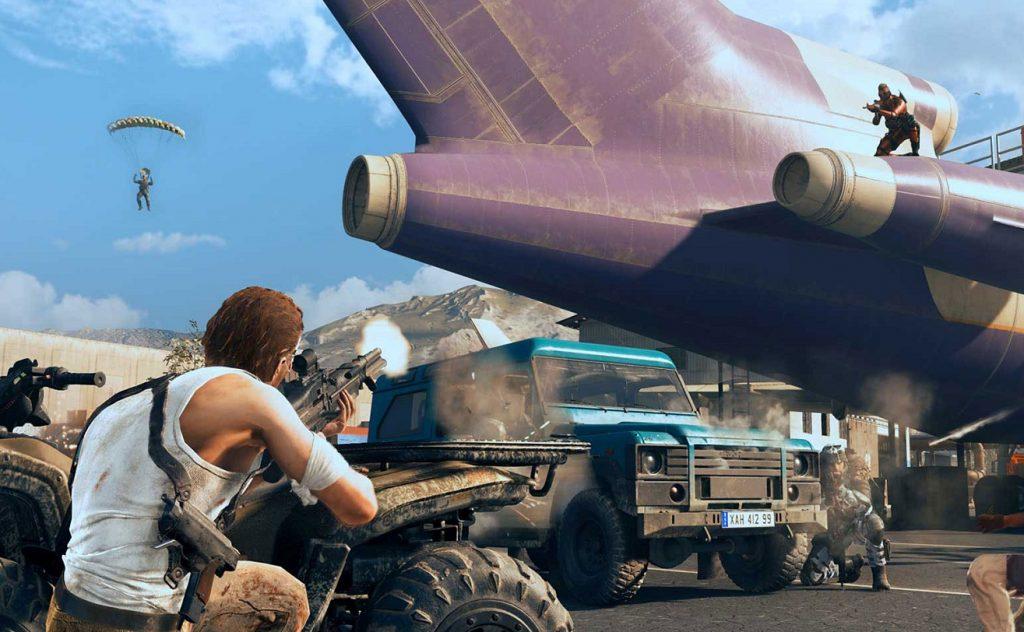 Warzone shootout by a plane.