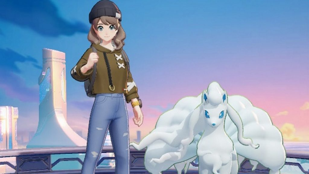 Pokemon Unite pay to win explained - picture of a trainer and ninetails
